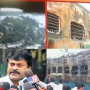 Tamil Nadu Express fire: Chiranjeevi visits Nellore station