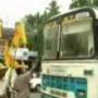 Samaikhyavadis deflate bus tyres demanding United A.P