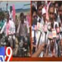 Harish Rao and Swamy Goud bike rally for Sadak bandh