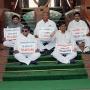 T Congress MPs deeksha continue at Parliament