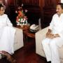 CM Kiran personally receives mentor Chidambaram