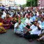 PROTESTS CONTINUE IN SEEMANDHRA
