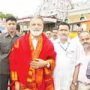 ISRO Chairman Radhakrishnan at Tirumala on Mangalyaan Success