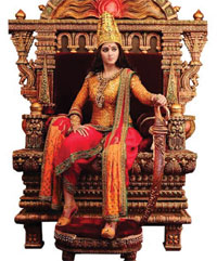 Anushka's first look in Rudramadevi